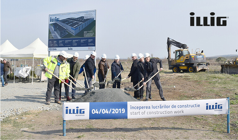 ILLIG groundbreaking Romania April 2019 | © ILLIG Maschinenbau GmbH & Co. KG